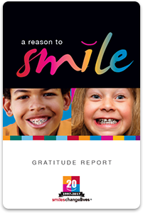 2016 gratitude report for smiles change lives