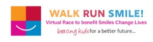 Walk Run Smile! banner for virtual race