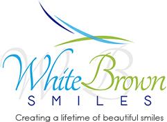 White Brown Smiles logo